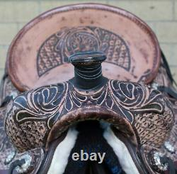 12 13 14 Roping Saddle Used Western Ranch Trail Barrel Leather Youth Horse Tack