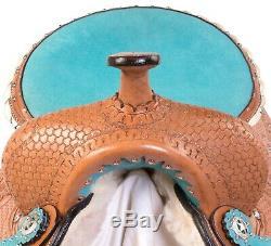 12 13 Western Horse Leather Saddle Barrel Pleasure Trail Tack Set