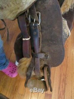 12 Vintage Kids Western Trail Pony Saddle With Tapedaros