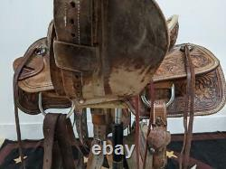 13.5 Used Corriente Western Ranch Saddle 2-1290