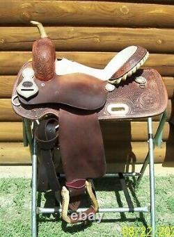 14 14.5 Teskey's Texas Barrel Collection Used Western Saddle & Pleasure Trail