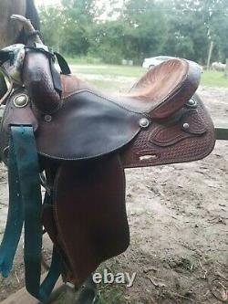 14.5 Billy Cook Western Barrel Saddle. Lightly used