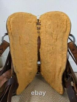 14.5 Used Todd Voborny Western A Fork Ranch Saddle 62-2184