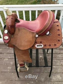 14 American Saddlery Red Star Racer Western Barrel Saddle Fqhb