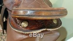 14 Barrel Racing Western Leather Saddle With Bling-SQHB-GUC