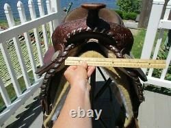 14'' Billy Royal Silver Trimmed Equitation Western Show Saddle QH BARS #39111