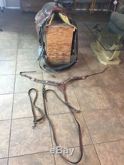 14 Corriente Ranch Cutter Western Saddle Roping Leather Tooling Cutting