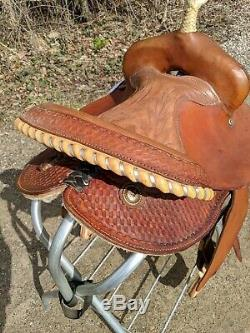 14 Texas T all around barrel round skirt western saddle