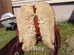 14'' VINTAGE BILLY COOK western barrel saddle SQHB USA MADE GREENVILLE TX #8532