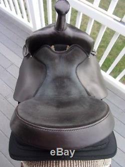 14'' black big horn #280 western Leather & cordura barrel trail saddle high back
