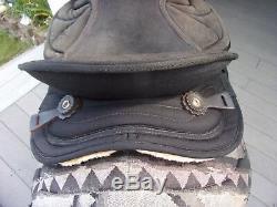 14'' black big horn #599 western Suede barrel / trail saddle QHB w saddle pad