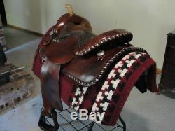 15 1/2 Circle Y Western Show Pleasure Trail Saddle