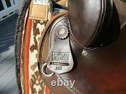 15'' #102 Brown big horn suede & cordura western barrel trail saddle QH BARS