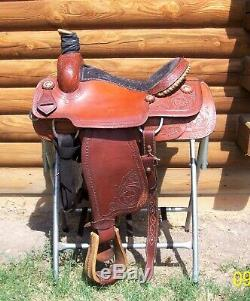 15 15.5 Corriente Anthony NM great used Western Roping Pleasure Trail Saddle