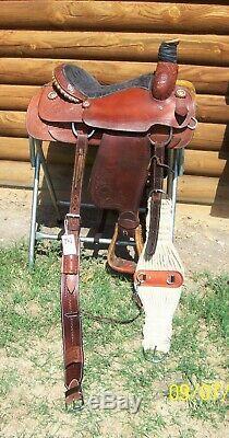 15 15.5 Corriente Anthony NM great used Western Roping Pleasure Trail Saddle