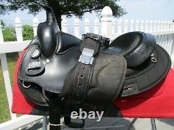 15.5'' #115 Black Big horn Arabian Leather & Cordura western trail saddle