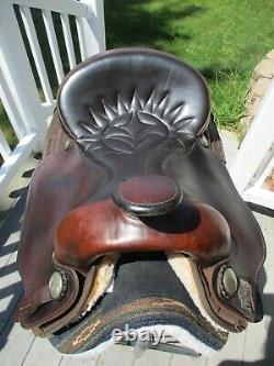 15.5'' #116 Brown Big horn Arabian Leather & Cordura western trail saddle