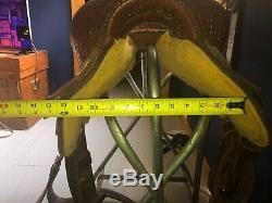 15.5 Billy Cook Western Barrel Saddle. Lightly used