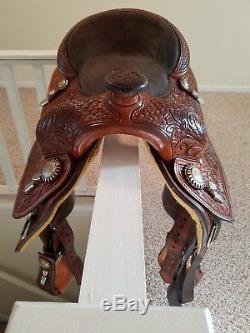 15.5 Billy Royal Reining Saddle Show Saddle or Work Saddle GREAT Condition