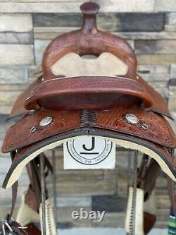 15.5 Hereford Tex Tan All Around Saddle, Clean! , Roping, Western, Ranch