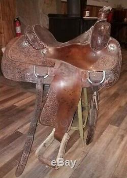 15.5 Inch Circle Y Western Roping Saddle Full Quarter Horse Bars