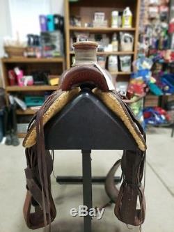 15.5 Used Cactus Craig Cameron Western Roper Saddle 3-1381