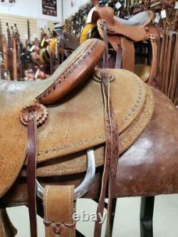 15.5 Used Cactus Western Ranch Saddle 2-1234