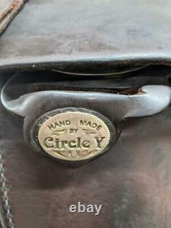 15.5 Used Circle Y Western Trail Saddle 359-2064