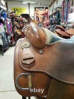 15.5 Used Dale Chavez Western Training Saddle 270-1147