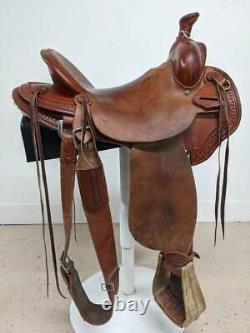 15.5 Used McCall Western Ranch Lady Pendleton Saddle 2-1293