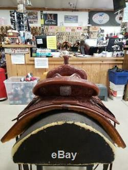 15.5 Used Rico Western Ranch Cutter Saddle 2-1182