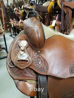 15.5 Used Saddle Smith Bob Loomis Western Reining Saddle 90-1490