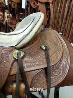 15.5 Used Seven D Wade Western Saddle 300-1405