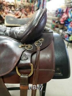 15.5 Used Tex Tan Flex Tree Western Trail Saddle 2-1090