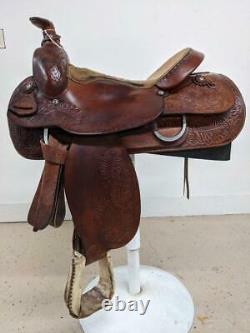 15.5 Used TexTan Western Roper Saddle 2-1311
