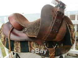 15 #706 American Saddlery Vintage Western Barrel Trail Saddle Qh Bars