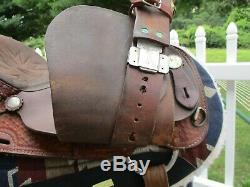 15 #812 American Saddlery Ekto 2 Circle A Western Barrel Saddle Qh Bars