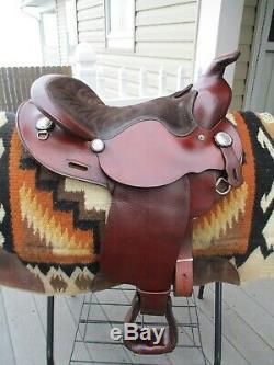 15'' Big Horn #1006 Arabian Western Chestnut Trail Saddle