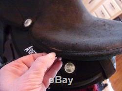 15'' Black Abetta Western Trail Saddle Round Skirt Regular Qhbars