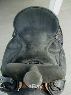 15'' Black Suede & Cordura big horn #600 western barrel trail saddle QHB