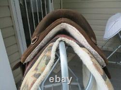 15'' Bob Marshall Endurace Sports Leather & cordura western trail saddle