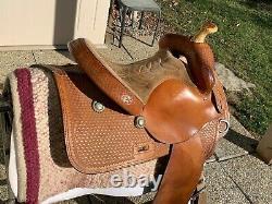 15 Cleburne Saddle Shop Western Reining Saddle