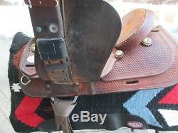 15'' Crates 200-3 Western Basketweave Trail Saddle Sqh Bars