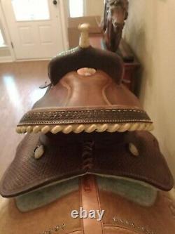 15 Lamb Barrel Saddle Custom Saddlery #300 Western Riding Tooled Leather NICE