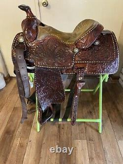 15 Longhorn Cutter Western Horse Saddle