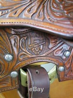 15 MacPherson Western Saddle Sterling Silver & Turquoise Work Of Art