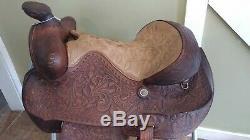 15 Pioneer Big Horn Vintage Show Trail Western Saddle-Used FQHB