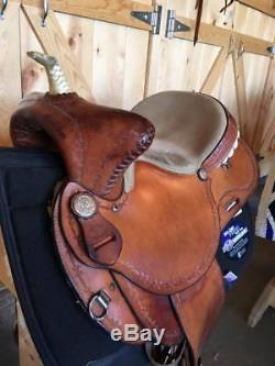 15 Riders Choice Bear Trap Barrel Saddle Nice