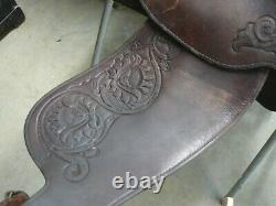15 Silver Royal Leather Western Show Trail Saddle withSilver