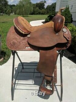 15 Tex Tan Barrel Racing Western Saddle